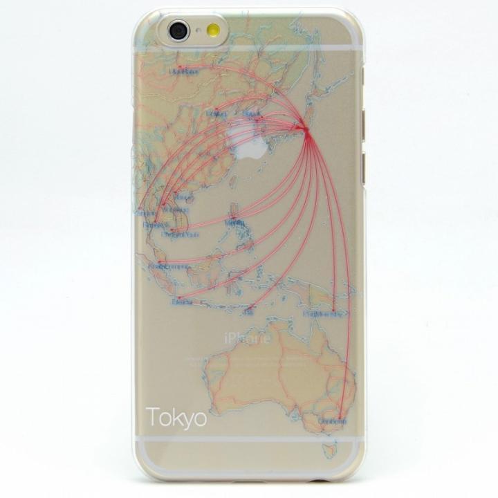 【iPhone6s/6ケース】航空路デザインクリアケース modref 東京 iPhone 6s/6_0