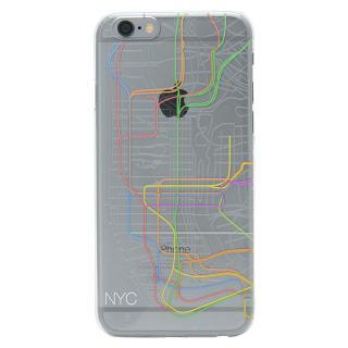 iPhone6s/6 ケース 地下鉄路線図デザインクリアケース modref ニューヨーク iPhone 6s/6