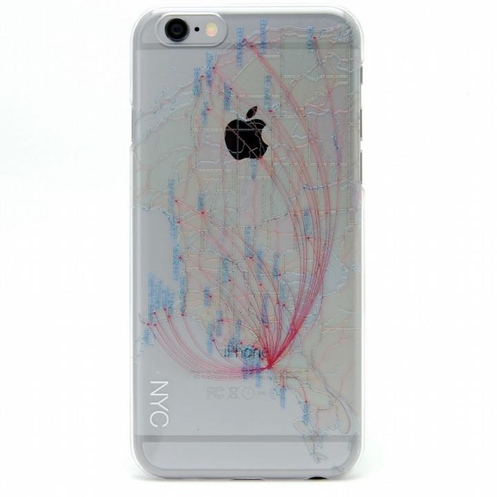 iPhone6s/6 ケース 航空路デザインクリアケース modref ニューヨーク iPhone 6s/6_0
