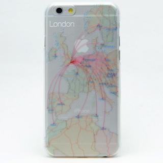 iPhone6s/6 ケース 航空路デザインクリアケース modref ロンドン iPhone 6s/6