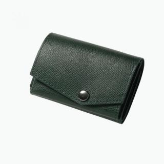 小さい財布 abrAsus(アブラサス) ダークグリーン