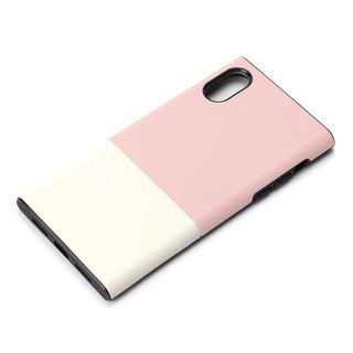 iPhone XS/X ケース Premium Style ハイブリッドタフケース サフィアーノ調/ピンク iPhone XS/X