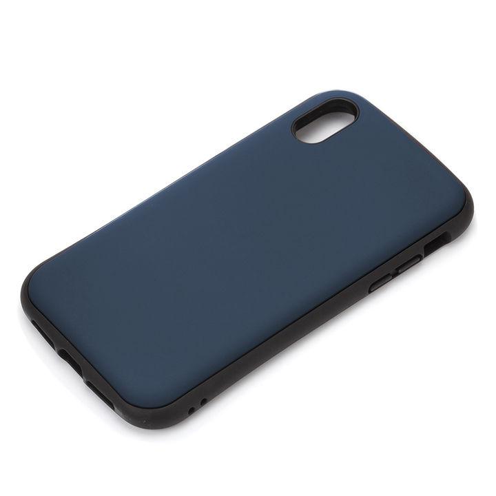 iPhone XR ケース Premium Style ハイブリッドタフケース マットブルー iPhone XR_0