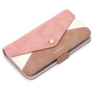 【iPhone XS Maxケース】Premium Style ダブル手帳型ケース レター型ポケット ピンク iPhone XS Max【9月下旬】