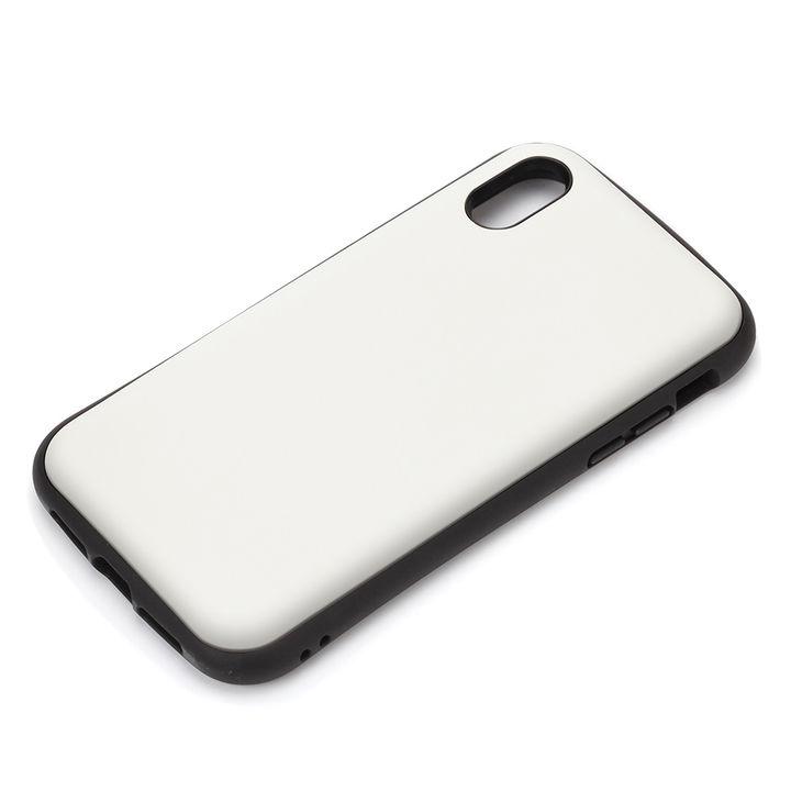 【iPhone XRケース】Premium Style ハイブリッドタフケース マットホワイト iPhone XR_0