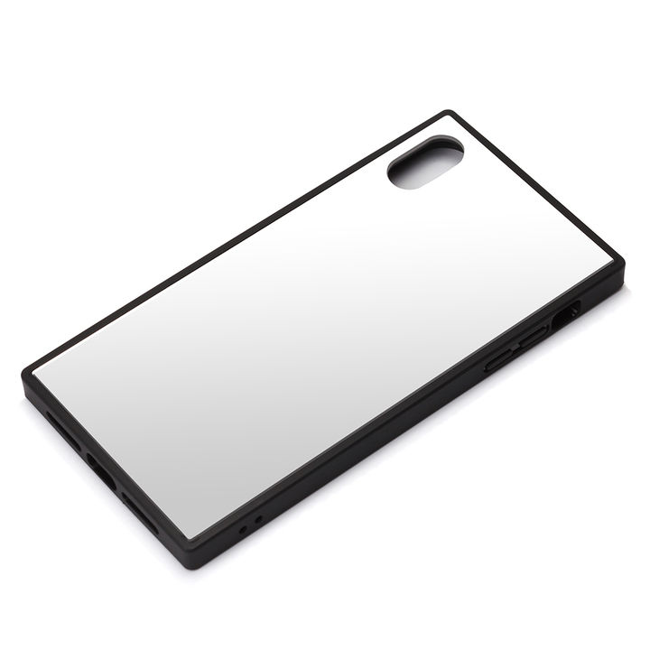 iPhone XR ケース Premium Style ガラスハイブリッドケース シルバー iPhone XR_0