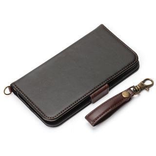 iPhone XS/X ケース Premium Style 手帳型ケース PUレザーダメージ加工 ブラック iPhone XS/X