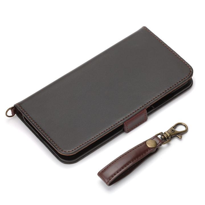 【iPhone XRケース】Premium Style 手帳型ケース PUレザーダメージ加工 ブラック iPhone XR_0