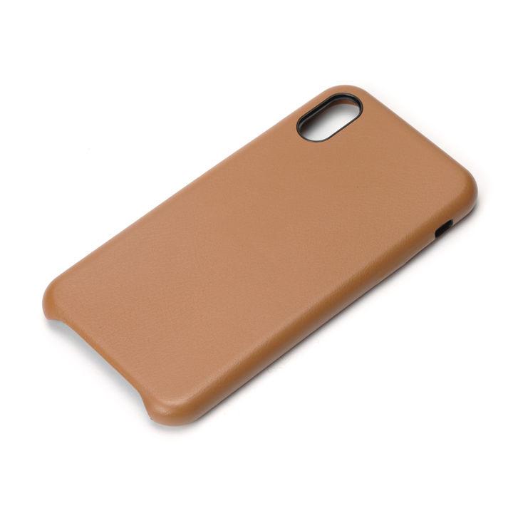 【iPhone XS/Xケース】Premium Style PUレザーケース ブラウン iPhone XS/X_0