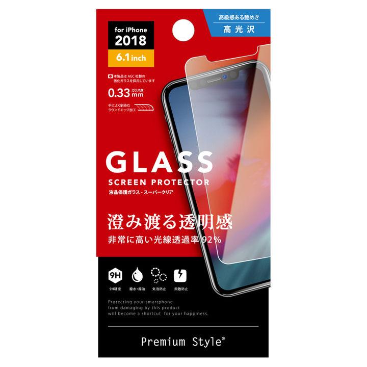 iPhone XR フィルム Premium Style ディスプレイ保護強化ガラス スーパークリア iPhone XR_0