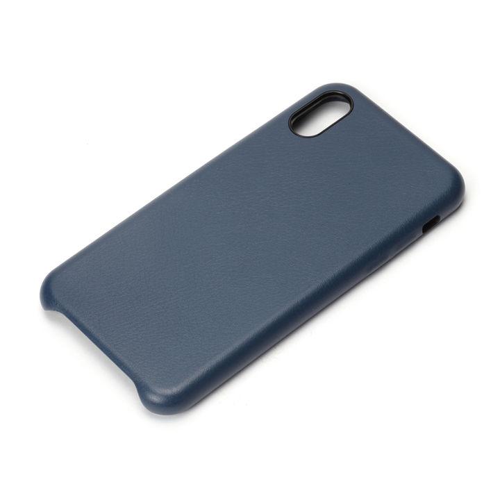 【iPhone XS/Xケース】Premium Style PUレザーケース ブルー iPhone XS/X_0