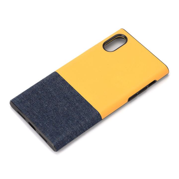 iPhone XS/X ケース Premium Style ハイブリッドタフケース デニム調/イエロー iPhone XS/X_0