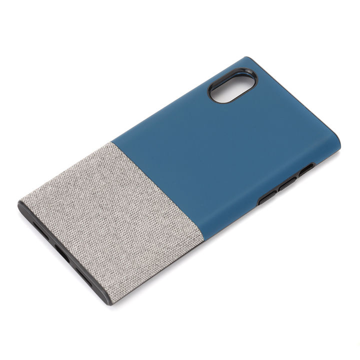 iPhone XS/X ケース Premium Style ハイブリッドタフケース ファブリック/ネイビー iPhone XS/X_0