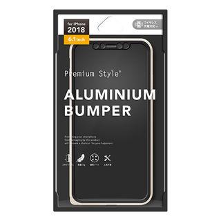【iPhone XRケース】Premium Style アルミニウムバンパー ゴールド iPhone XR_2
