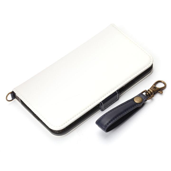 【iPhone XS/Xケース】Premium Style 手帳型ケース PUレザーダメージ加工 ホワイト iPhone XS/X_0