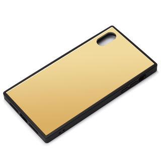 【iPhone XS Maxケース】Premium Style ガラスハイブリッドケース ゴールド iPhone XS Max