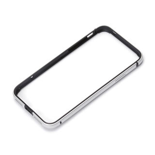 【iPhone XS/Xケース】Premium Style アルミ+TPUハイブリッドバンパー シルバー iPhone XS/X
