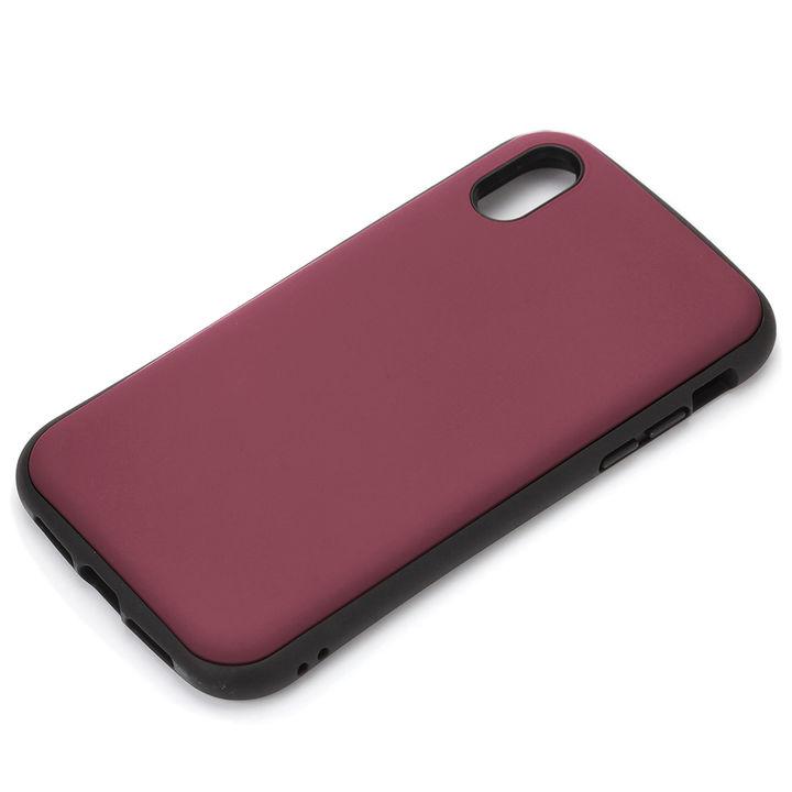 【iPhone XS Maxケース】Premium Style ハイブリッドタフケース マットレッド iPhone XS Max_0
