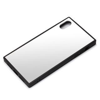 iPhone XR ケース Premium Style ガラスハイブリッドケース シルバー iPhone XR