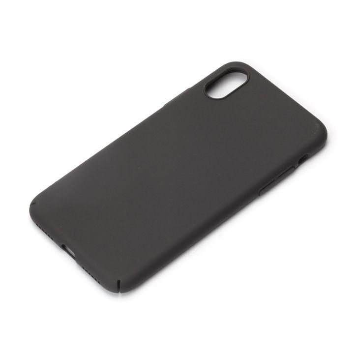 【iPhone Xケース】iJacket ポリカーボネイトケース ラバーブラック iPhone X_0