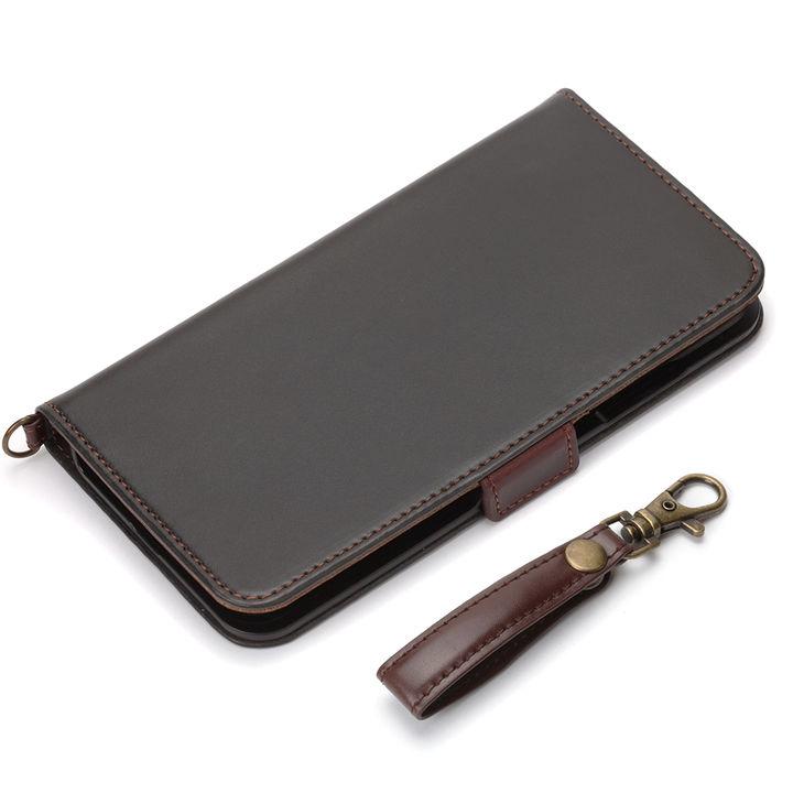 iPhone XS Max ケース Premium Style 手帳型ケース PUレザーダメージ加工 ブラック iPhone XS Max_0