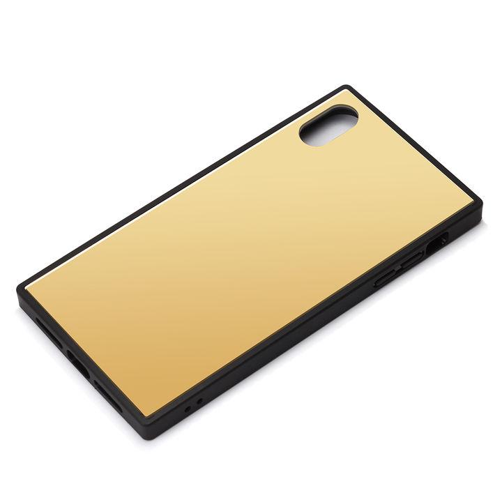 iPhone XR ケース Premium Style ガラスハイブリッドケース ゴールド iPhone XR_0