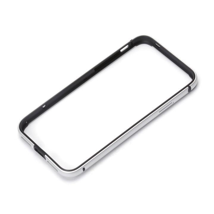 【iPhone XS/Xケース】Premium Style アルミ+TPUハイブリッドバンパー シルバー iPhone XS/X_0