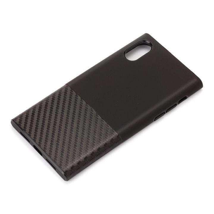iPhone XS/X ケース Premium Style ハイブリッドタフケース カーボン調/ブラック iPhone XS/X_0
