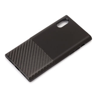 iPhone XS/X ケース Premium Style ハイブリッドタフケース カーボン調/ブラック iPhone XS/X【1月下旬】