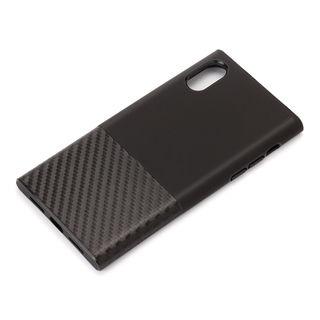 iPhone XS/X ケース Premium Style ハイブリッドタフケース カーボン調/ブラック iPhone XS/X