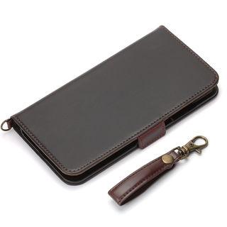 Premium Style 手帳型ケース PUレザーダメージ加工 ブラック iPhone XS Max