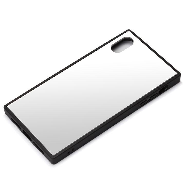 【iPhone XS Maxケース】Premium Style ガラスハイブリッドケース シルバー iPhone XS Max_0
