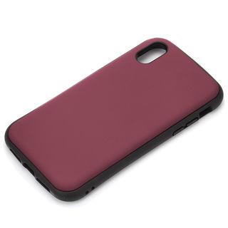 Premium Style ハイブリッドタフケース マットレッド iPhone XS Max
