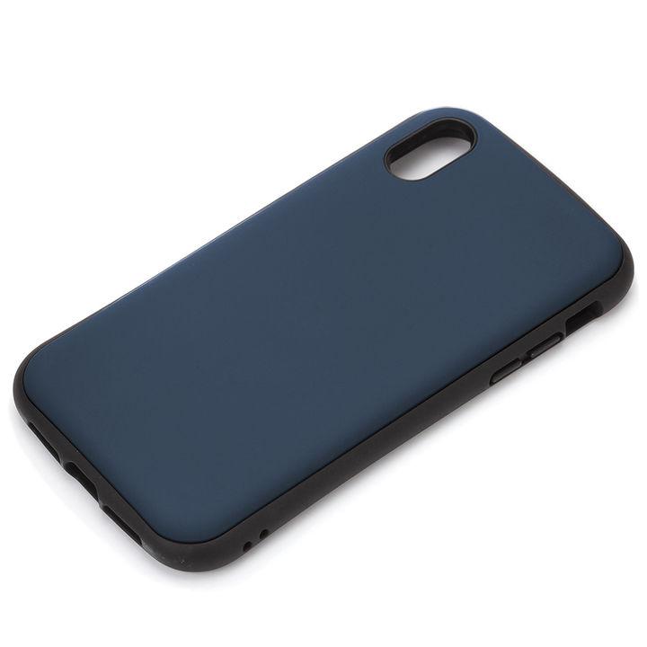 【iPhone XS Maxケース】Premium Style ハイブリッドタフケース マットブルー iPhone XS Max_0