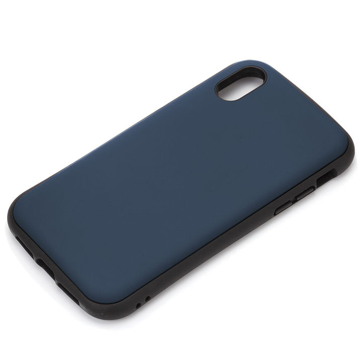 iPhone XS Max ケース Premium Style ハイブリッドタフケース マットブルー iPhone XS Max_0