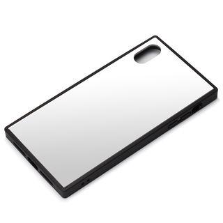 【iPhone XS Maxケース】Premium Style ガラスハイブリッドケース シルバー iPhone XS Max【10月上旬】