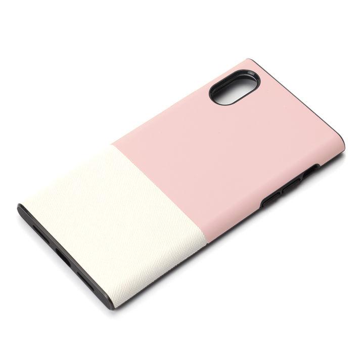 iPhone XS/X ケース Premium Style ハイブリッドタフケース サフィアーノ調/ピンク iPhone XS/X_0