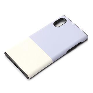 【iPhone XS/Xケース】Premium Style ハイブリッドタフケース サフィアーノ調/パープル iPhone XS/X