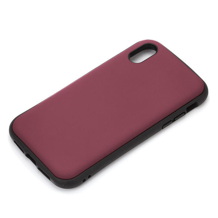 iPhone XR ケース Premium Style ハイブリッドタフケース マットレッド iPhone XR【12月中旬】_0