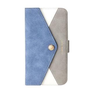 【iPhone XS Maxケース】Premium Style ダブル手帳型ケース レター型ポケット ブルー iPhone XS Max_1