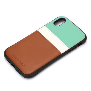 【iPhone XRケース】Premium Style タフポケットケース チョコミント iPhone XR