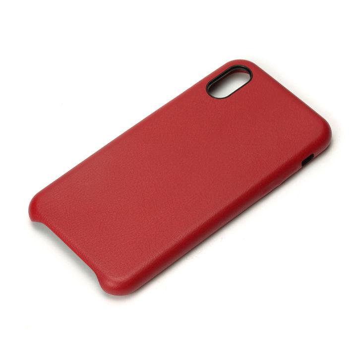 iPhone XS/X ケース Premium Style PUレザーケース ワインレッド iPhone XS/X_0
