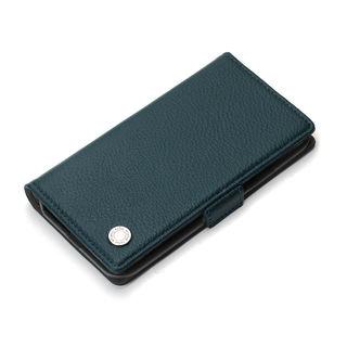 iPhone XS/X ケース Premium Style 手帳型ケース エンボスPUレザー ブルー iPhone XS/X