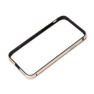 Premium Style アルミ+TPUハイブリッドバンパー ゴールド iPhone XS/X