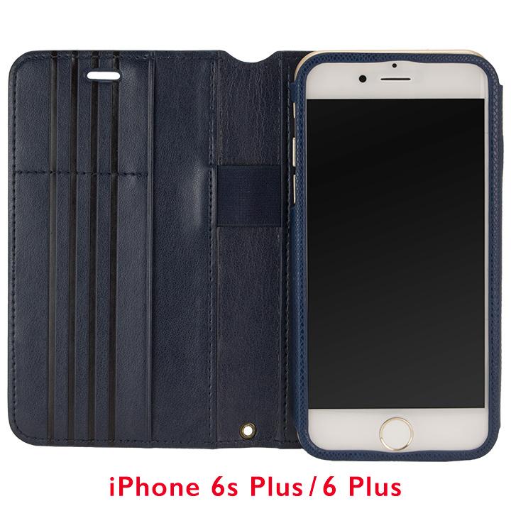 iPhone6s Plus/6 Plus ケース Su-Penホルダー付き 最薄 手帳型レザーケース ブルー  iPhone 6s Plus/6 Plus_0