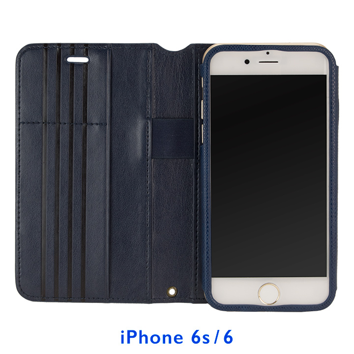 【iPhone6s/6ケース】Su-Penホルダー付き 最薄 手帳型レザーケース ブルー  iPhone 6s/6_0
