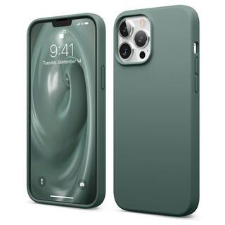 iPhone 13 Pro Max (6.7インチ) ケース elago SILICONE CASE シリコンケース Midnight Green iPhone 13 Pro Max