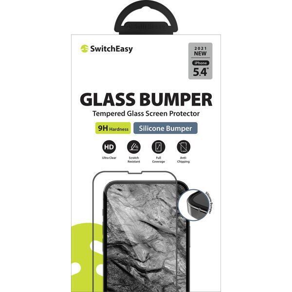 SwitchEasy Glass Bumper 3Dフルカバー強化ガラス Transparent iPhone 13 mini【10月下旬】_0