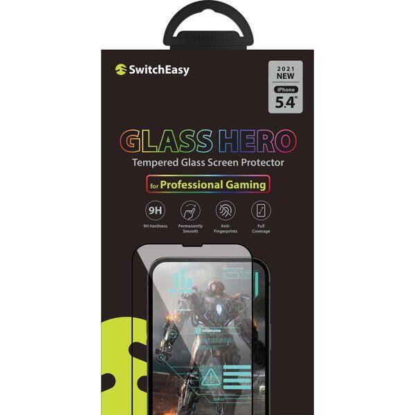 SwitchEasy Glass Hero 3Dフルカバー強化ガラス Transparent iPhone 13 mini【10月下旬】_0