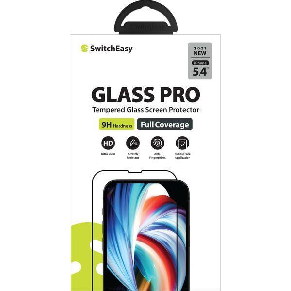 SwitchEasy Glass Pro 3Dフルカバー強化ガラス Transparent iPhone 13 mini【10月下旬】_0